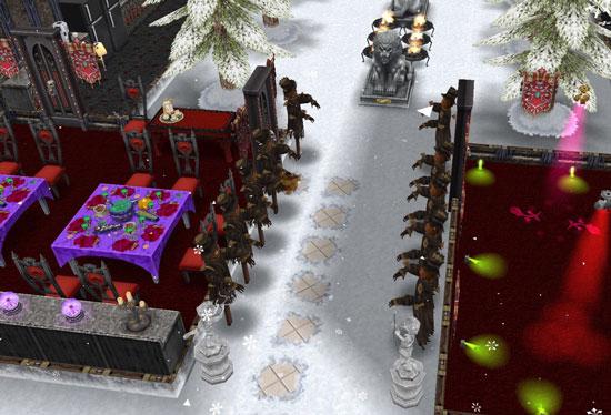 呪われたカカシの並ぶエントランス(The Sims フリープレイ)