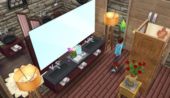 スパの洗面台(The Sims フリープレイ)