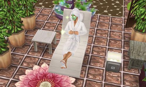 スパでくつろぐシム(The Sims フリープレイ)