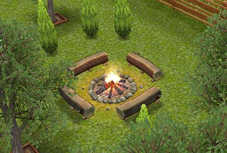 キャンプファイヤー(The Sims フリープレイ)