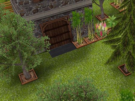 森の中にひっそりとある塔の扉(The Sims フリープレイ)