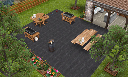 バーベキュー広場(The Sims フリープレイ)