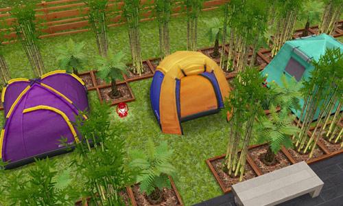 竹林キャンプ場(The Sims フリープレイ)