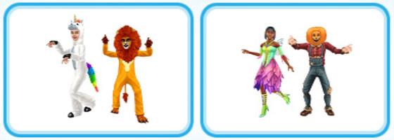 小学生とティーンのハロウィンコスチューム:ユニコーン、ライオン、妖精、カボチャ
