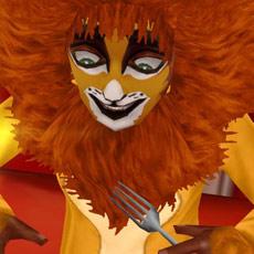 ハロウィンのライオンコスチュームでスマイル(The Sims フリープレイ)