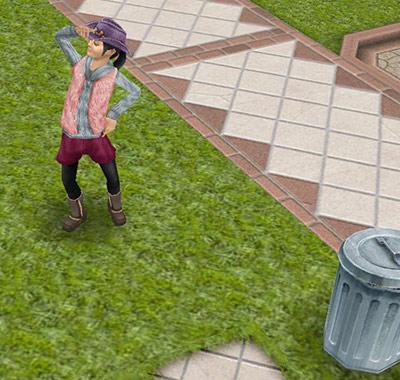 幼児用アイテムしか出なくて残念がる小学生シム(The Sims フリープレイ)