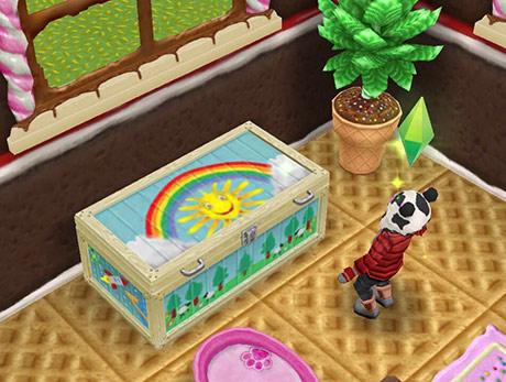 部屋に置かれた幼児用のドレスアップチェスト(The Sims フリープレイ)