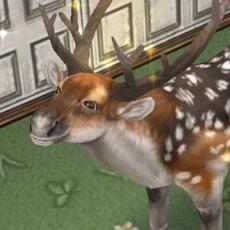 笑顔を向けるブチトナカイ(The Sims フリープレイ)
