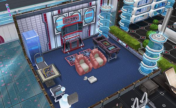 SFデザイナーズ住宅、ゲーム・ルーム(The Sims フリープレイ)