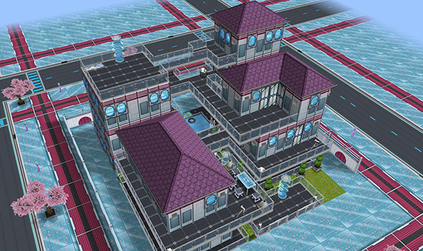 SFデザイナーズ住宅の一軒(The Sims フリープレイ)