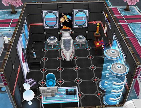 SFデザイナーズ住宅、宇宙と宇宙船の子供部屋(The Sims フリープレイ)