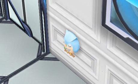 青のフクロウのナイトライト〈横〉(The Sims フリープレイ)