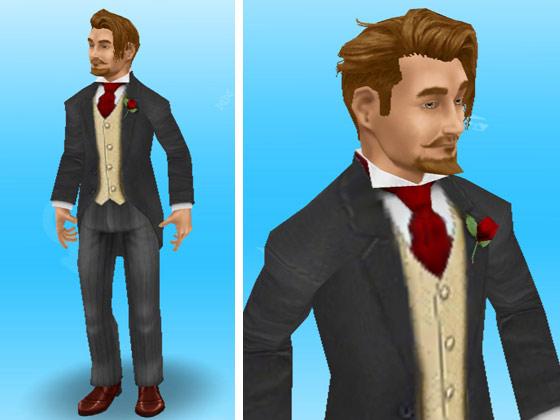 結婚式バンドルのタキシードを着た男性シム(The Sims フリープレイ)
