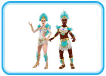 アナコンダのカーニバルの服装(The Sims フリープレイ)