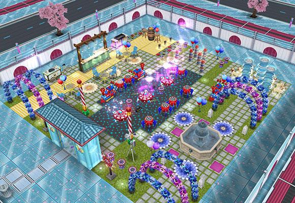 花火ばんばんカーニバルハウス全体図(The Sims フリープレイ)