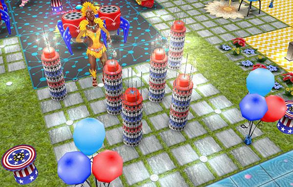 ダークタワー花火と風船の広場(The Sims フリープレイ)