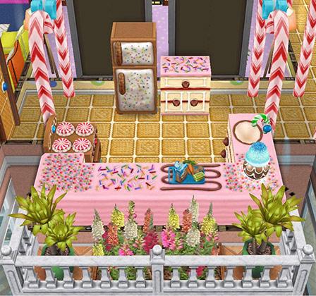ジンジャーブレッド家具のキッチン(The Sims フリープレイ)