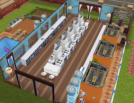 シム10人で趣味「料理」ができるクッキングホール(The Sims フリープレイ)