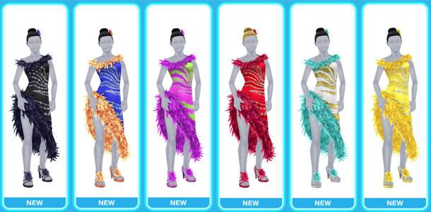 ラテンダンスのドレス全色(The Sims フリープレイ)