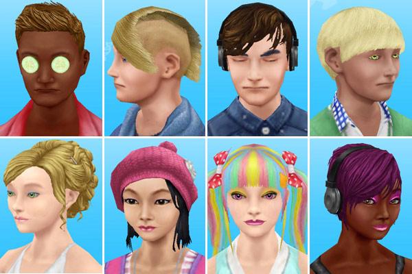 ティーンシムたちの顔写真(The Sims フリープレイ)