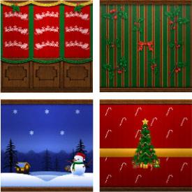 クリスマスの壁紙(The Sims フリープレイ)