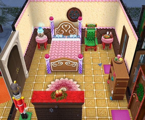 メリークリスマスベッドルーム(The Sims フリープレイ)
