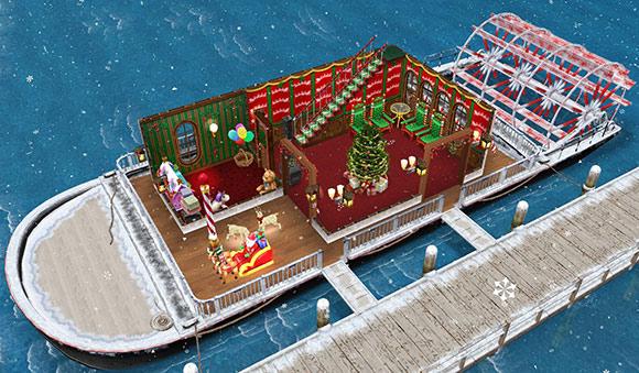 サンタクロースのハウスボート(The Sims フリープレイ)