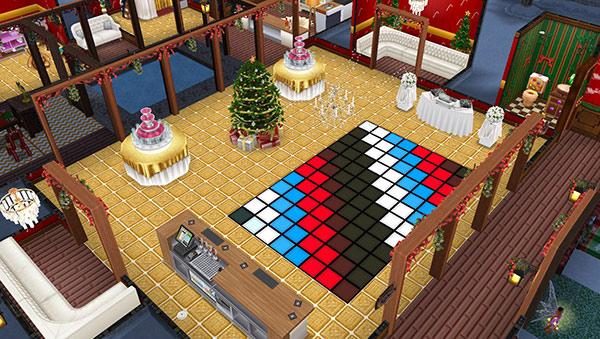 クリスマスのダンスパーティー会場(The Sims フリープレイ)