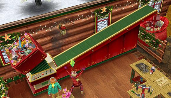 サンタ工房にあるプレゼントマシーン(The Sims フリープレイ)