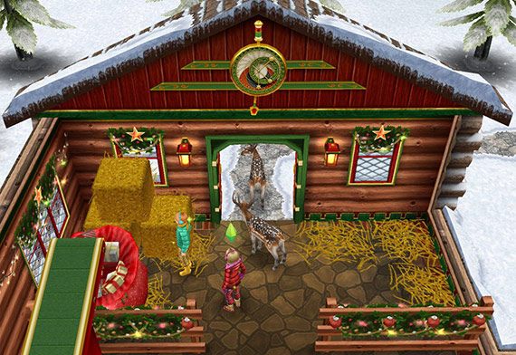 サンタ工房、トナカイの寝床(The Sims フリープレイ)