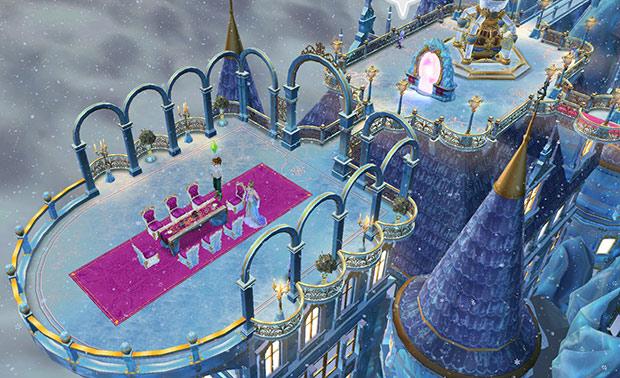 氷の宮殿、バルコニー(The Sims フリープレイ)