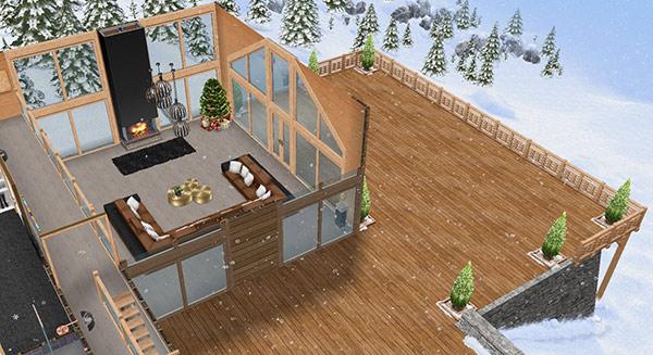 雪のシャレー(The Sims フリープレイ)