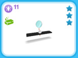 シャレー シングル 黒、11SP(The Sims フリープレイ)