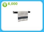 黒いタオルラック、6,000シムオリオン(The Sims フリープレイ)