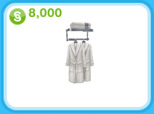 クロームのローブラック、8,000シムオリオン(The Sims フリープレイ)