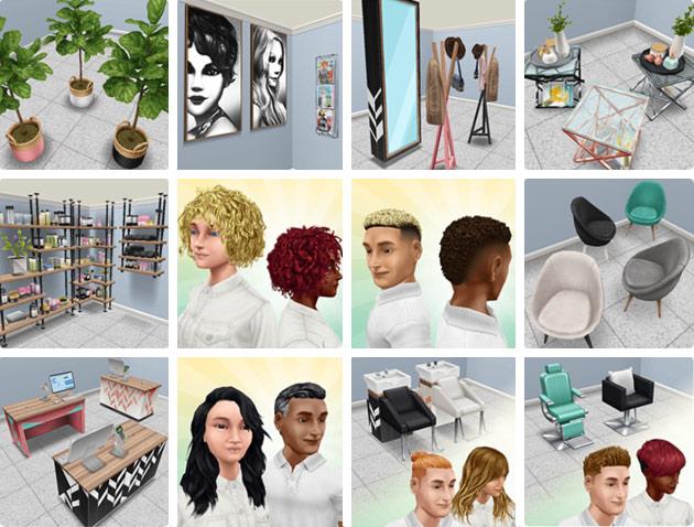 「今日は髪あり、明日はなし」ライブイベントの報酬(The Sims フリープレイ)