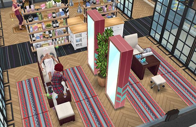 ペントハウス美容室、ネイルサロンエリア(The Sims フリープレイ)