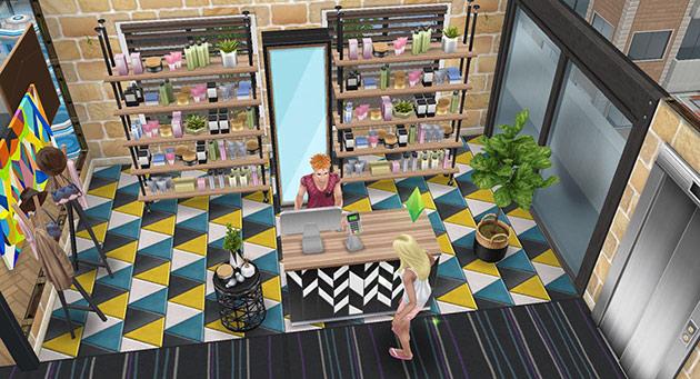 ペントハウス美容室、受付(The Sims フリープレイ)