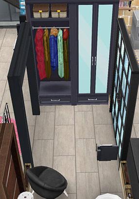 ペントハウス美容室、従業員ロッカールーム(The Sims フリープレイ)