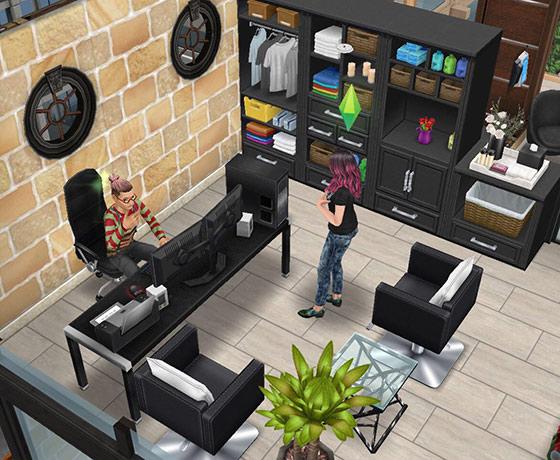 ペントハウス美容室、事務所(The Sims フリープレイ)