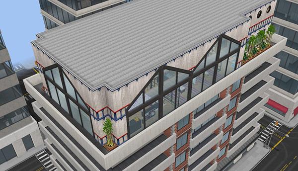 ペントハウス美容室、外観(The Sims フリープレイ)