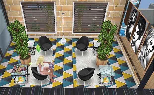 ペントハウス美容室・待合室(The Sims フリープレイ)