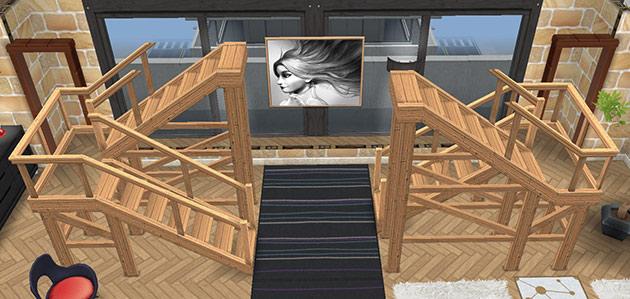 ペントハウス美容室・1階の階段ホール(The Sims フリープレイ)