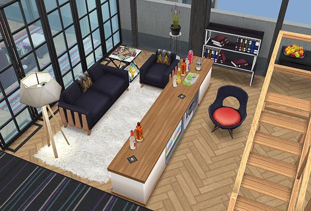 ペントハウス美容室、カウンセリングブース(The Sims フリープレイ)