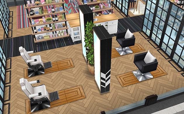 ペントハウス美容室、ヘアメイクエリア(The Sims フリープレイ)