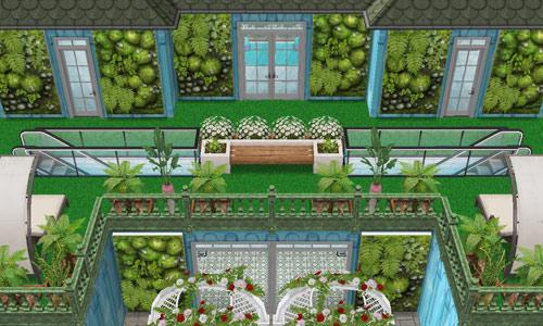 ボタニカル美容サロン、海側バルコニー(The Sims フリープレイ)