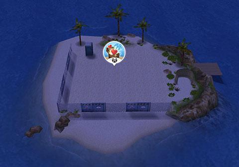 新しく出現したプライベートアイランド(The Sims フリープレイ)