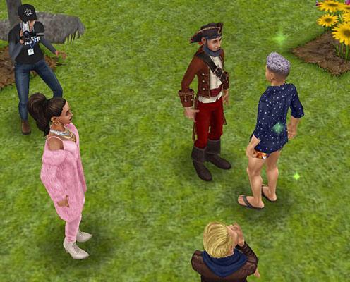 ラブ&トレジャー司会者にハートを届けるシム(The Sims フリープレイ)
