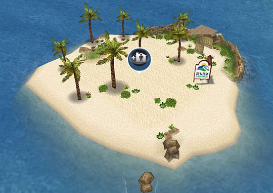 建設可能になったプライベートアイランド(The Sims フリープレイ)