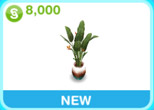 植物「邸宅 ガラス 鉢植え」(The Sims フリープレイ)